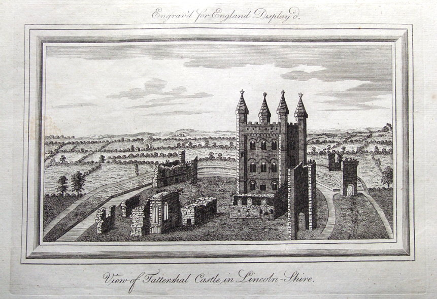 Lincolnshire Tattershall Castle England Displayed Antique